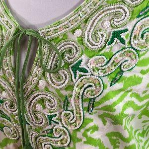 Soft Surroundings beaded tunic top
